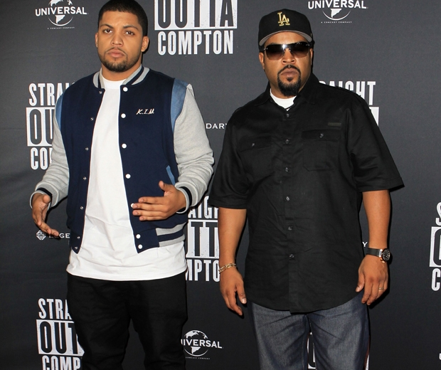 O'Shea Jackson Jnr and Ice Cube from Straight Outta Compton