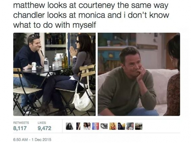 Courteney Cox and Matthew Perry meme