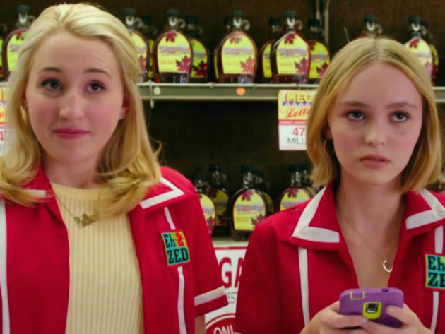 Check out Lily-Rose Depp and Harley Quinn Smith in Yoga Hosers…