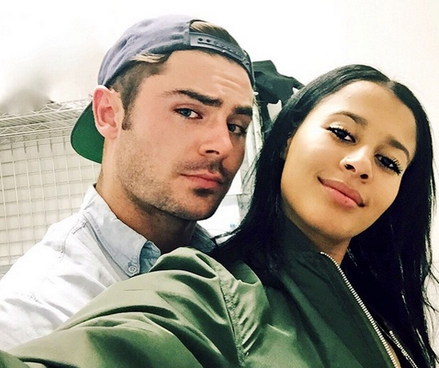 Zac and girfriend Sami Miro pose for a cute selfie on Instagram...