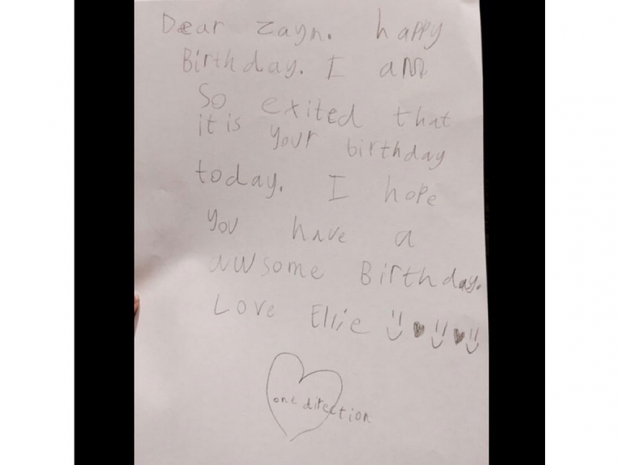 Zayn Malik's birthday message