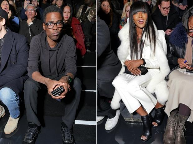 Chris Rock and Naomi Campbell at Rihanna's Puma show
