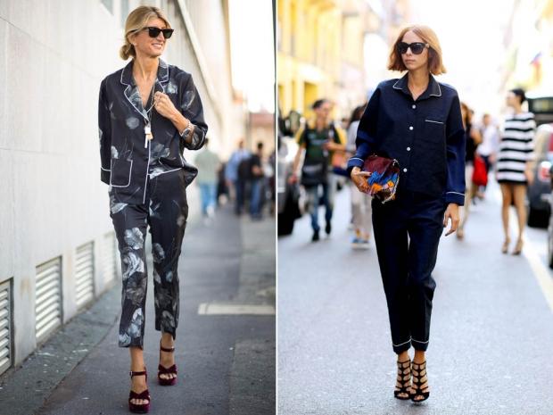 How to wear the pyjama trend