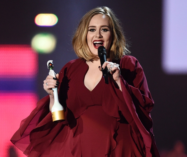 Adele won Best British Solo Female at the BRITs 2016...
