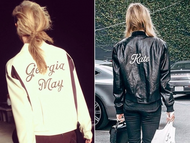 Georgia Jagger on the Rag and Bone AW14 catwalk and Kate Bosworth in a bomber
