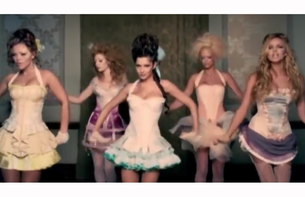 The Girls Alloud in the 'Can't Speak French' video...