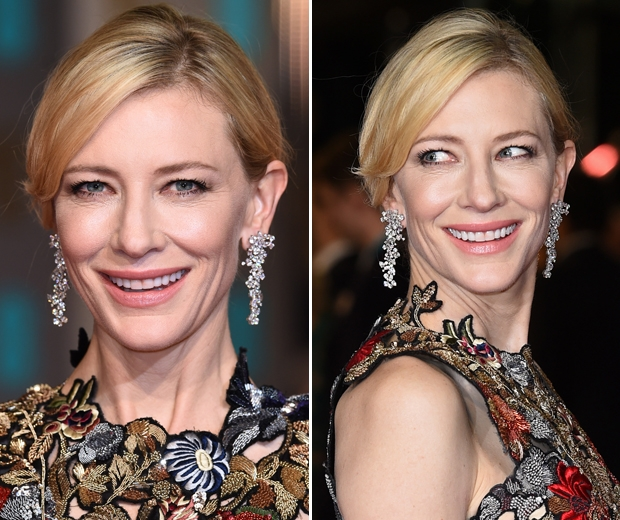 cate blanchett lipstick on teeth