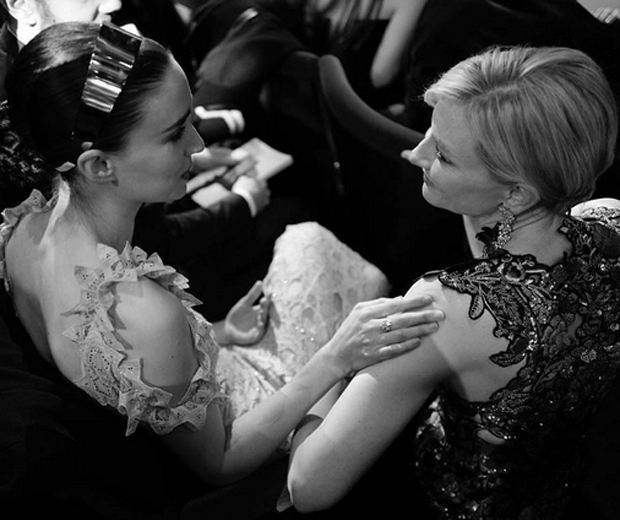Cate and Carol co-star Rooney Mara chatting at the BAFTAs