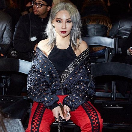 CL on the Alexander Wang AW16 FROW
