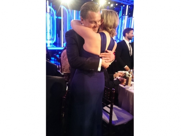 Kate Winslet and Leonardo DiCaprio at the Golden Globes