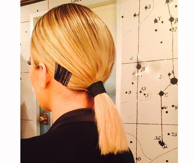 khloe kardashian ponytail back