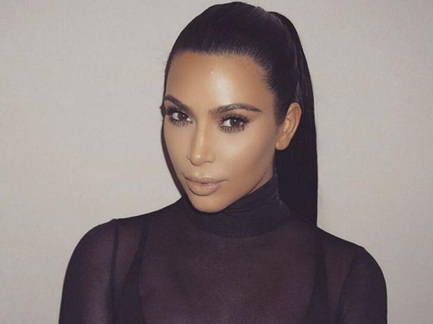 Kim Kardashian's mesh polo neck