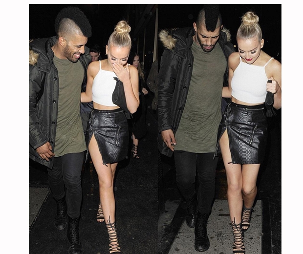 perrie edwards night out with mystery man