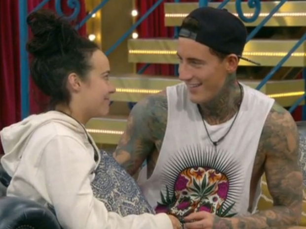 Stephanie Davis and Jeremy McConnell on Celebrity Big Brother
