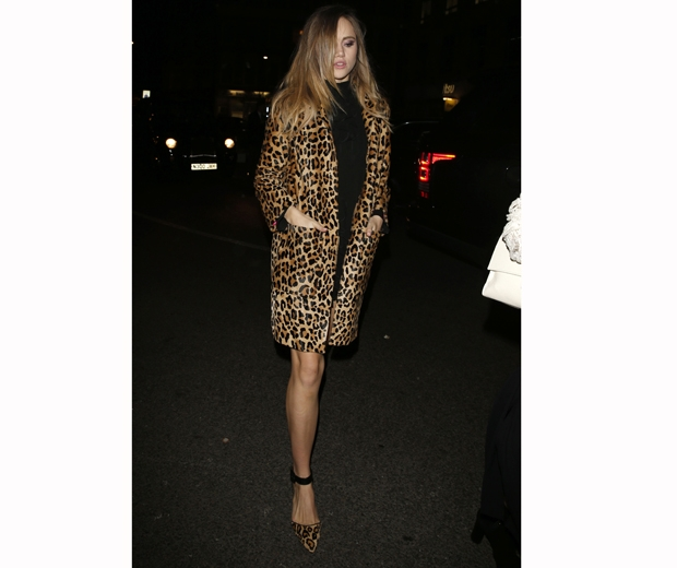 Suki waterhouse leaving for the Warner BRITs after party...