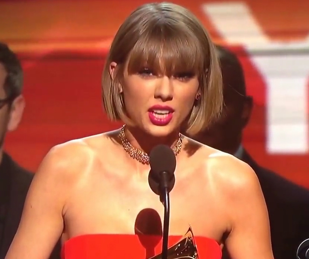 Taylor Swift delivered the ultimate girl power speech at the Grammys