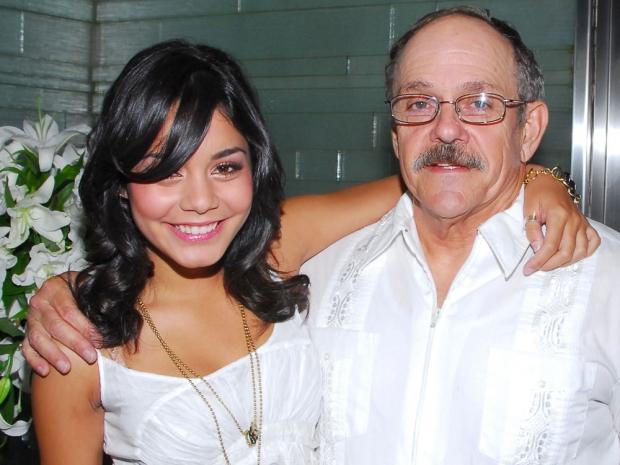 Vanessa Hudgens and father Greg Hudgens