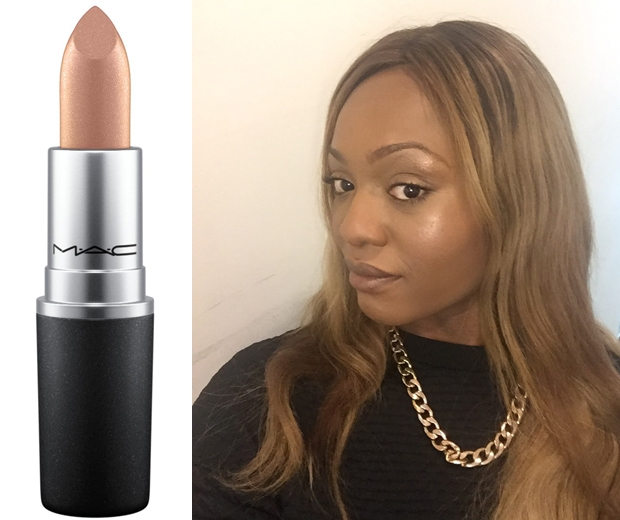 Our Picture Researcher, Vic A, gave the trend a go with MAC's lippie