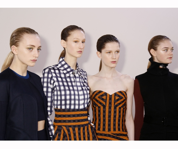 Victoria Beckham's models backstage at NYFW AW16