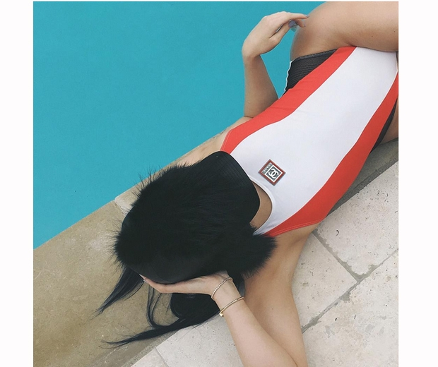 Kylie jenner chanel swimsuit