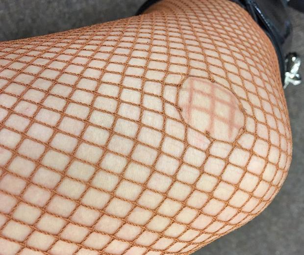 jade thirlwall ripped tights