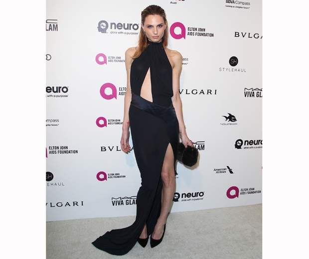 Model Andreja Pejic turned up to Elton John's party