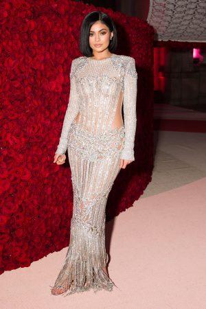 Kylie Jenner Wearing Balmain At The MET Gala, 2016