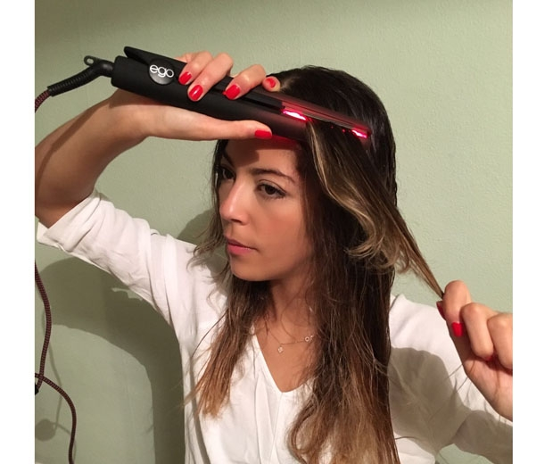 Beauty Assistant Gaby tests out the the 'cool tool'
