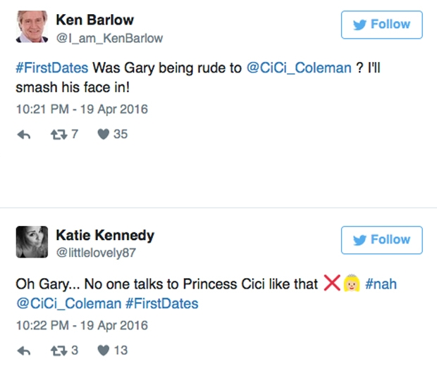 gary first dates tweets
