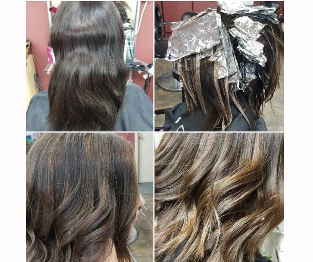 foilyage hair trend