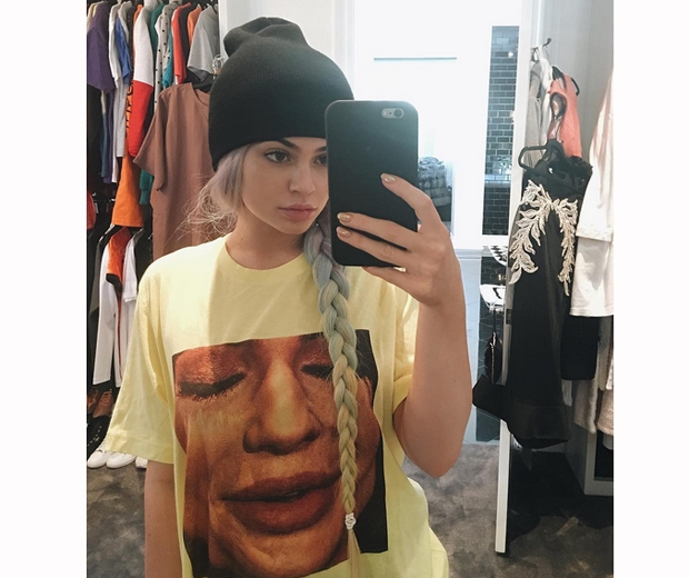kylie jenner face tshirt