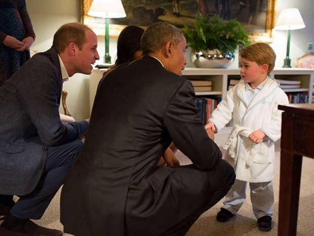 Prince George meets Obama