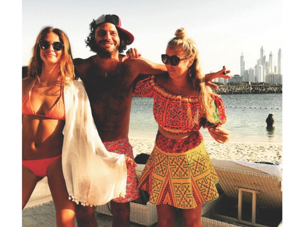 Millie Mackintosh hanging out with friends in Dubai