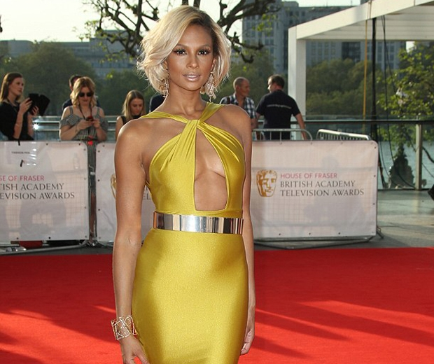 bronze glamorous Alesha Dixon BAFTAS TV 2016 beauty makeup formal