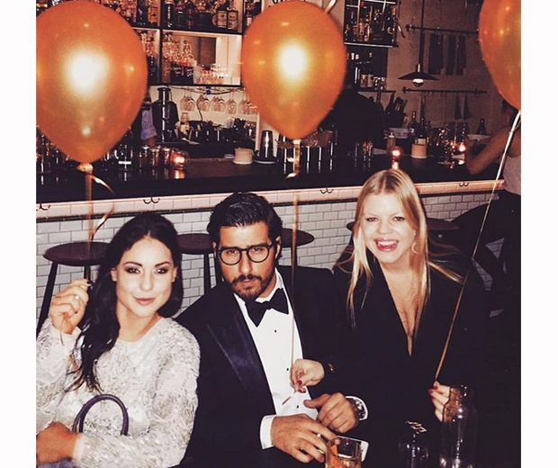 Louise spent the holidays partying with Alik and his friends and family in NY