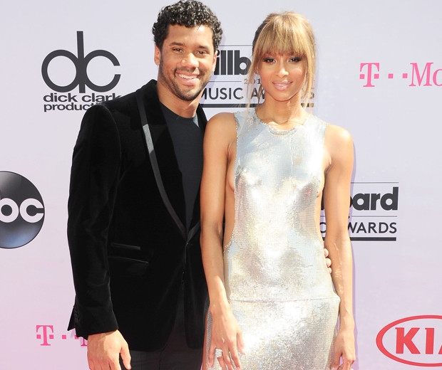 Ciara and boyfriend Russell Wilson on the red carpet...
