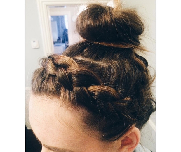 Izi Hicks Hairstylist braids and buns