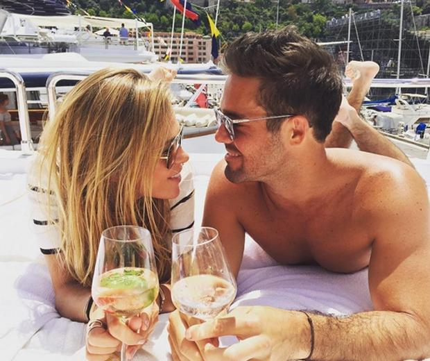 Spencer Matthews and girlfriend Morgane Robart monaco