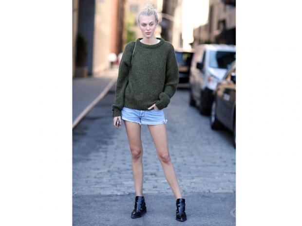 denim short street style