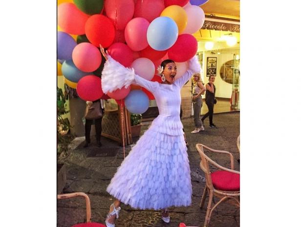 Giovanna Battaglia Alaïa dress