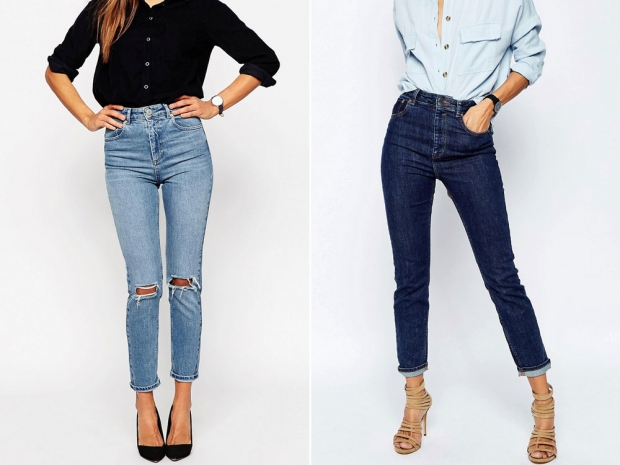 Farleigh Slim Light Wash Mom Jeans, £35, ASOS