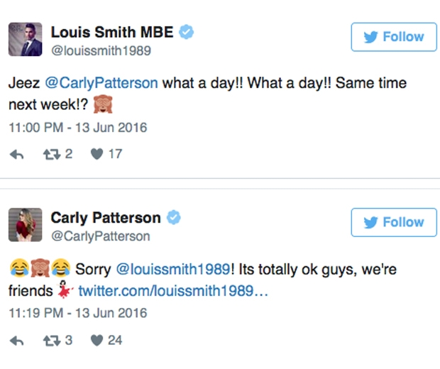 carly patterson louis smith
