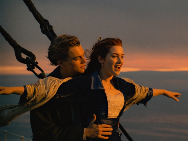 Leo and Kate in the 1997 hit Titanic
