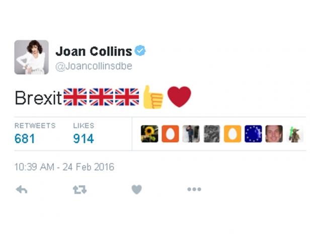 Joan Collins Brexit