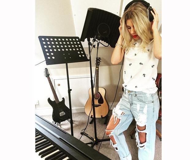 mollie king the saturdays recording studio