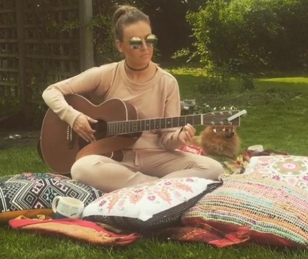 perrie edwards guitar singing