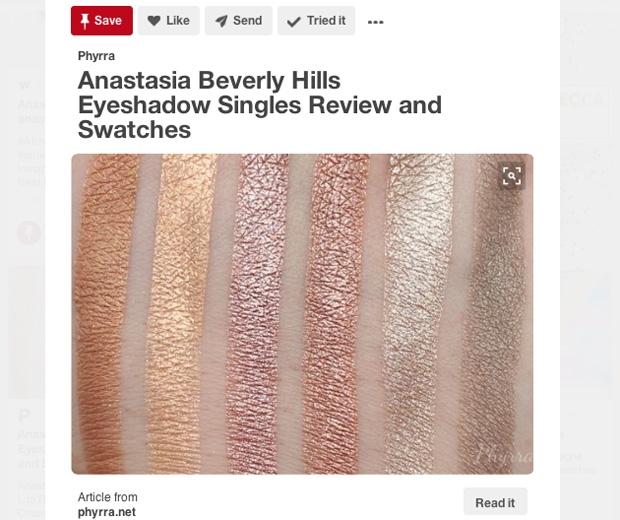 Pinterest Champagne Eyeshadows