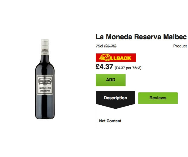 Asda's £4.37 Malbec has been voted 'Best In Show Under £15' by Decanter
