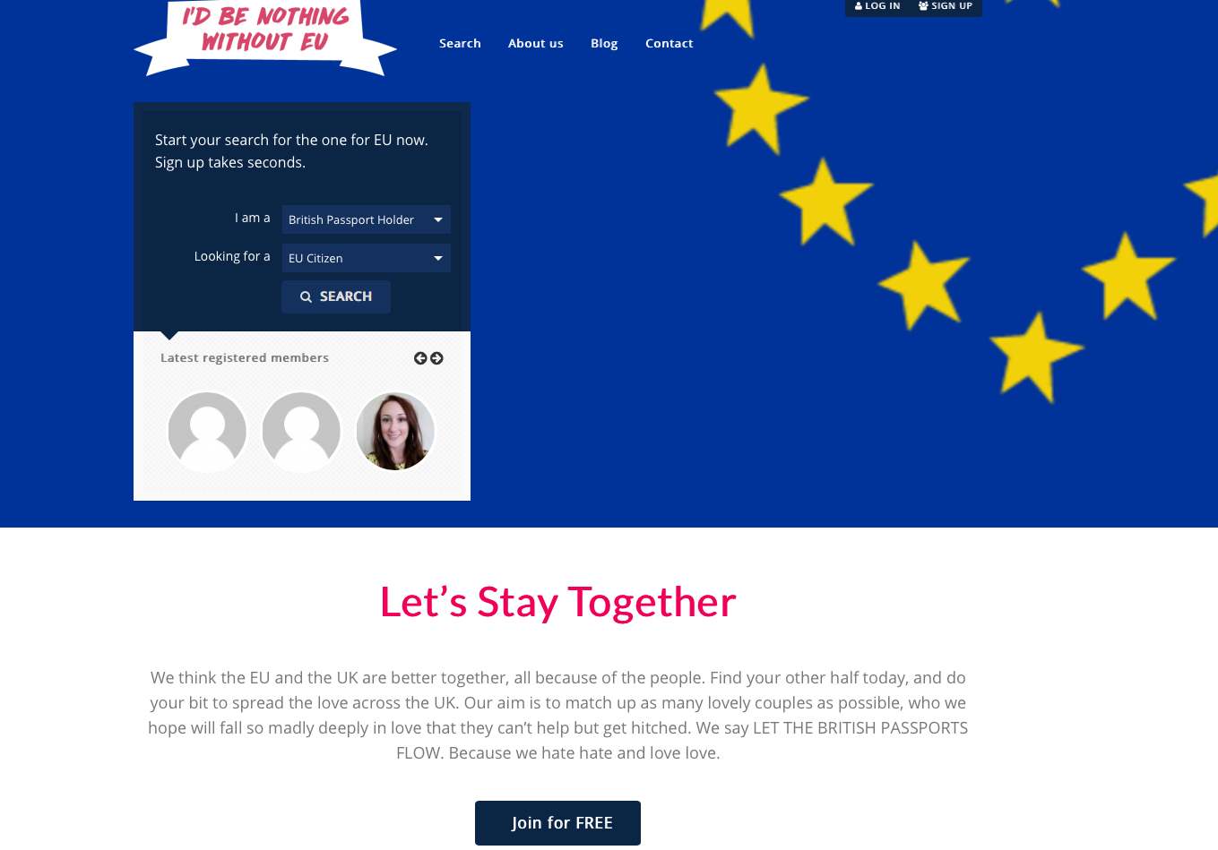 I D Be Nothing Without Eu Is The Post Brexit Dating Site Look Magazine