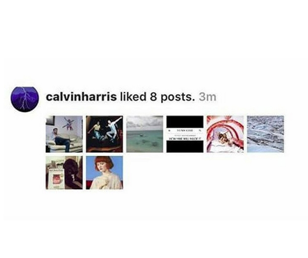 taylor swift calvin harris liked instagram